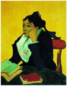 「아를 여인: 책을 보는 지누 부인」(1888 혹은 1889)