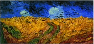 「까마귀가 있는 밀밭」(1890)