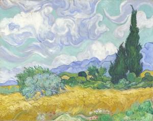 「사이프러스나무가 있는 밀밭」(1889)